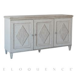 Eloquence® Caspian Sideboard in Mineral Grey Finish | Kathy Kuo Home