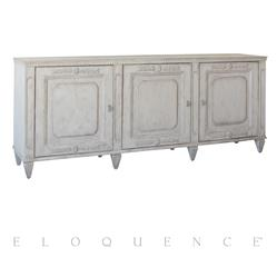 Eloquence® Parnassus Sideboard in Mineral Grey Finish | Kathy Kuo Home
