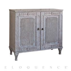 Eloquence® Matthias Cabinet in Cobblestone Finish | Kathy Kuo Home
