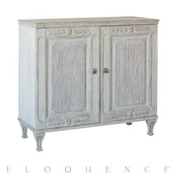 Eloquence® Matthias Cabinet in Mineral Grey Finish | Kathy Kuo Home