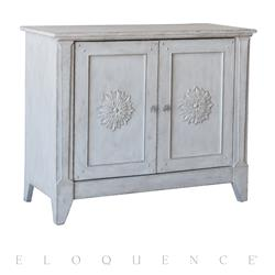Eloquence® Carenza Cabinet in Winter White Finish | Kathy Kuo Home