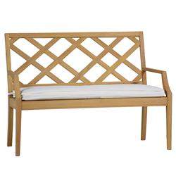 """Summer Classics Haley French Country Brown Teak Wood Bench - 48"""""""