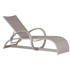 Summer Classics Halo Modern Coastal Classic Outdoor Oyster Wicker Chaise Lounge