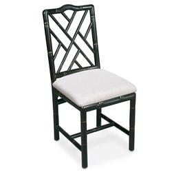 Grace French Country Oak Linen Upholstered Black Dining Chair