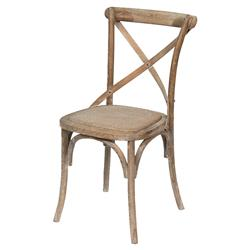Kate French Country Woven Cane Seat Curve Natural Birch Dining Room Side Chair
