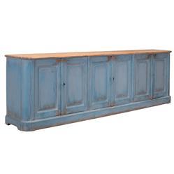 Bleu Ciel French Country Pine 6 Door Sideboard
