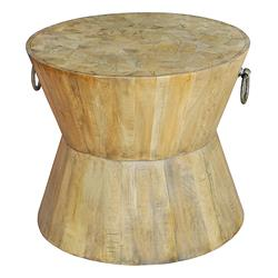 Thea Rustic Lodge Round Wood Side Table