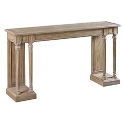 Clément Solid Oak French Country Carved Console Table