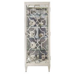 Hayley Hollywood Regency Cerused Oak Display Cabinet