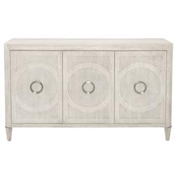 Hayley Hollywood Regency Cerused Oak Three Door Buffet