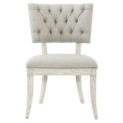 Hayley Hollywood Regency White Oak Klismos Chair