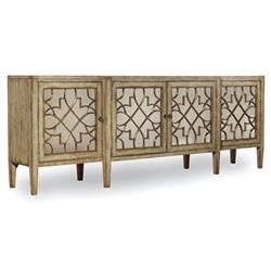 Angelique French Country Mirrored Four Door Sideboard