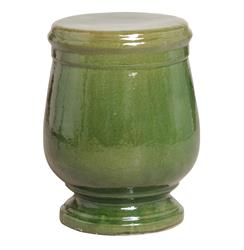 Sierra Green Urn Shaped Ceramic Garden Stool Seat