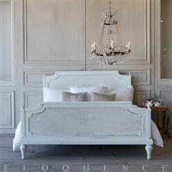 French Country Style Eloquence® Vintage Bed: 1940 | Kathy Kuo Home