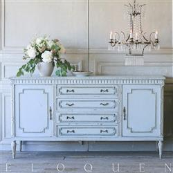 French Country Style Eloquence Vintage Sideboard: 1940