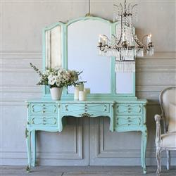 French Country Style Eloquence® Vintage Vanity with Mirror: 1940