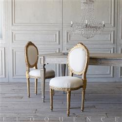 French Country Style Eloquence® Pair of Vintage Side Chairs: 1940