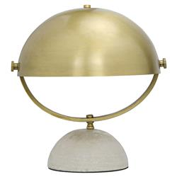 Shalita Hollywood Regency Antique Brass Half Moon Table Lamp | Kathy Kuo Home
