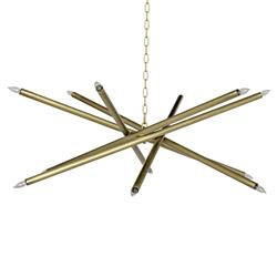 Noir Ikram Modern Classic Antique Brass Chandelier