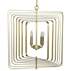 Opalina Regency Antique Brass Spiral Chandelier - Small | Kathy Kuo Home