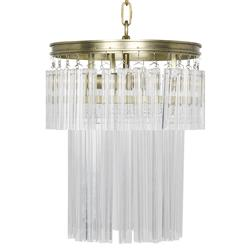 Ellenora Regency Antique Brass Crystal Chandelier | Kathy Kuo Home