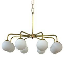 Callie Modern Classic 8 Globe Antique Brass Chandelier | Kathy Kuo Home
