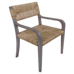 Noir Bowie Rustic Lodge Mahogany Wood Rush Arm Chair