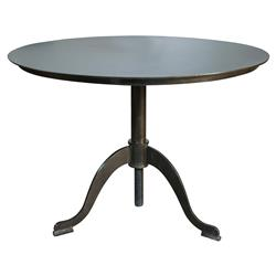 Valgard French Country Black Metal Pedestal Side Table | Kathy Kuo Home