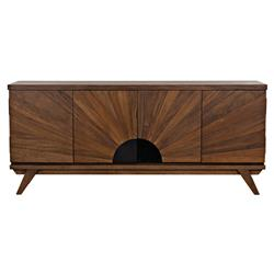 Tira Rustic Lodge Dark Walnut Console Table