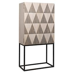 Suzu Modern Classic Walnut Metal Double Tone Cabinet | Kathy Kuo Home