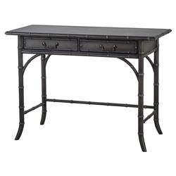 Mei Faux Bamboo Charcoal Hand Painted Desk | Kathy Kuo Home