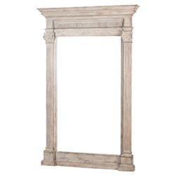 Pearl French Country Weathered Wood Plinth Mirror | Kathy Kuo Home
