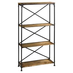 Cial Rustic Industrial Iron Wood Etagere