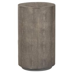 Maison 55 Braden Modern Classic Grey Faux Shagreen Round Side Table