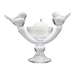 Ucelli Birds in Song Glass Ball Candleholder