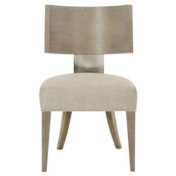 Gwyneth Modern Classic Upholstered Curved Back Bronze Side Chair
