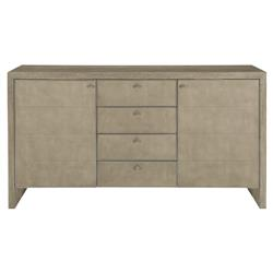 Gwyneth Modern Classic Quartered Oak Dark Taupe Shagreen Buffet