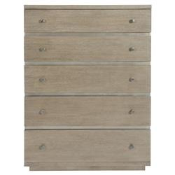 Gwyneth Modern Classic Dark Taupe 5 Drawer Tallboy Chest