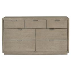 Gwyneth Modern Classic Dark Taupe 7 Drawer Dresser