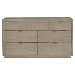 Gwyneth Modern Classic Dark Taupe 7 Drawer Dresser