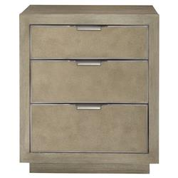 Gwyneth Modern Classic Shagreen 3 Drawer Nightstand