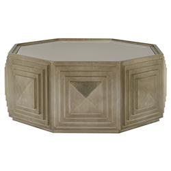 Gwyneth Modern Classic Octagonal Glass Top Coffee Table