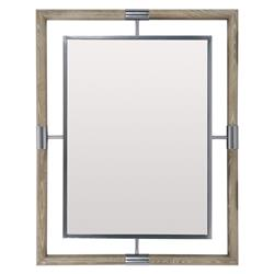 Gwyneth Modern Classic Wood Frame Metal Rectangular Mirror