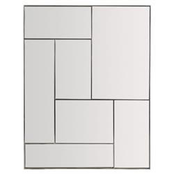 Gwyneth Modern Classic Stainless Steel Paneled Rectangular Mirror