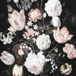 Anewall Dark Floral Blossom Modern Classic  Wallpaper