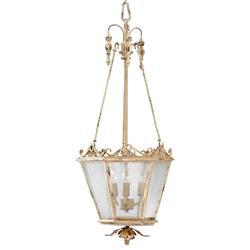 Maison French Country Antique White 3 Light Entry Chandelier