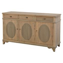 Adele French Country Reclaimed Pine 3 Door Sideboard