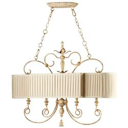 Maison French Country Antique White 4 Light Island Chandelier