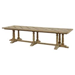 Emmanuelle French Country Reclaimed Pine Rectangular Dining Table - Large