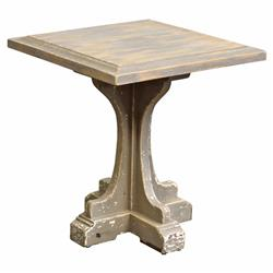 Mouffetard French Country Square Distressed Side End Table